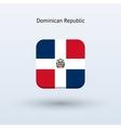 Dominican Republic flag icon vector image vector image