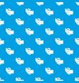 elegant belt buckle pattern seamless blue vector image vector image