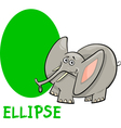ellipse shape with cartoon elephant vector image vector image
