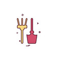 farmer tools icon design vector image