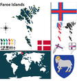 Faroe Islands map world vector image