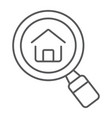 find real estate company thin line icon vector image vector image