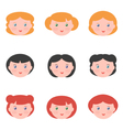 Flat design female avatars vector image vector image