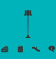 floor lamp icon flat vector image vector image