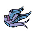 flying swallow colorful tattoo concept vector image vector image