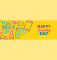 friendship day social media friend icon web banner vector image vector image