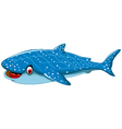 funny shark cartoon for you design vector image vector image