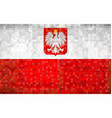 grunge mosaic flag of poland vector image vector image
