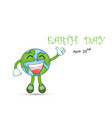 happy earth day april 22 with globe cute vector image vector image