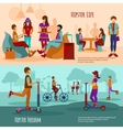 Hipster People Banner Set vector image