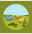 image of camping on vocation vector image vector image