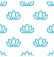 lotus flowers pattern Oriental background vector image vector image
