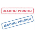 machu picchu textile stamps vector image vector image