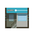 modern city building facade office or commercial vector image