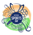 national sports day vector image vector image