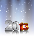 New 2013 3d Year Numbers vector image vector image
