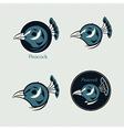 Peacock logos vector image vector image
