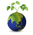 Planet earth with growing plants vector image vector image