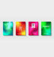 polygonal abstract background with squares vector image vector image