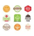 Prasad cuisine label vector image vector image