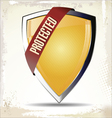 Protected Shield vector image vector image