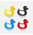 realistic design element duck vector image vector image