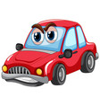 red car with big eyes carton character isolated vector image