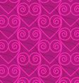 Retro 3D deep pink swirly hearts vector image vector image