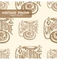 Retro phone Vintage vector image vector image