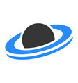 saturn planet flat icon vector image vector image