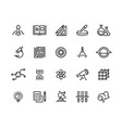 science line icons laboratory equipment physics vector image vector image