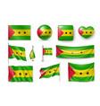 set sao tome and principe flags banners symbols vector image