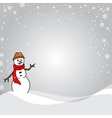 Silver and white snowflake background vector image vector image