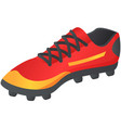 soccer shoes football vector image vector image