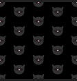 tile pattern with black cats on black background vector image