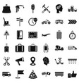 transportation icons set simple style vector image vector image