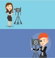 Two media banners with space for text vector image vector image