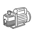 vacuum pump icon doodle hand drawn or outline vector image