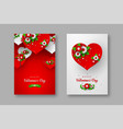 valentines day holiday posters vector image vector image