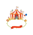 Vintage circus isolated element vector image vector image