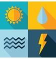 weather set icon Eps10 vector image