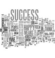 what does success mean to you text word cloud vector image vector image