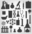 black science icon set vector image