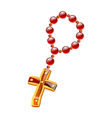 icon rosary vector image