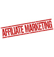 affiliate marketing stamp vector image vector image
