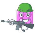 army toy brick character cartoon vector image