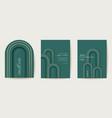 art deco luxury card set modern minimal vector image