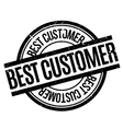 Best Customer rubber stamp vector image vector image