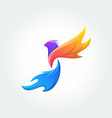 bird logo template concept vector image vector image