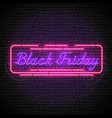 black friday purple neon sign in red frame vector image vector image